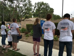 Southern Walkers praying at Planned Parenthood