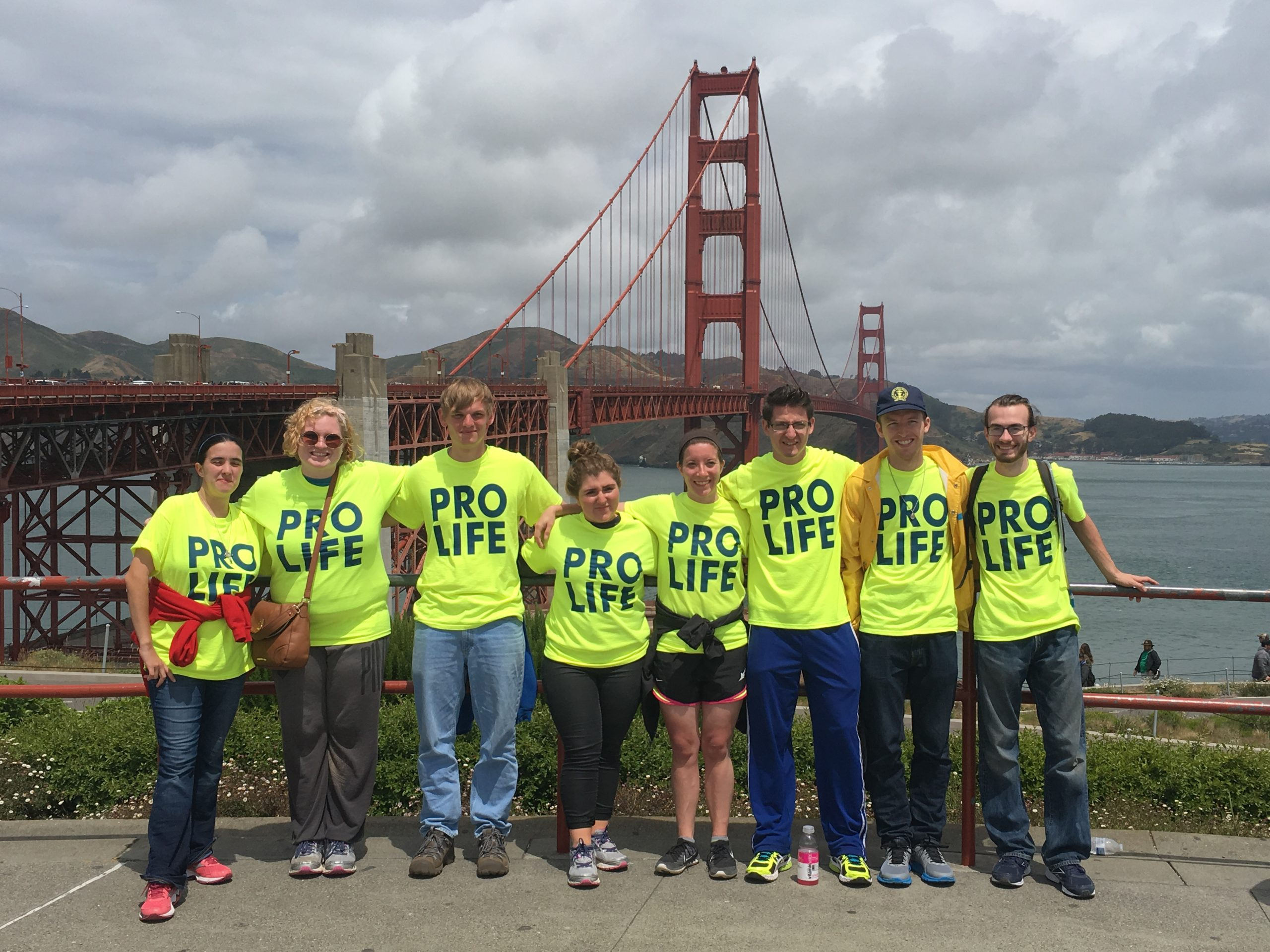 2015 Central Walk posing in front of the Golden Gate Bridge in San Francisco, CA.